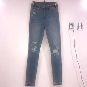 Abercrombie & Fitch, High Waisted Ripped Jeans